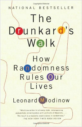 """A picture of the cover of the book """"The Drunkard's Walk- How Randomness Rules Our Lives"""" by Leonard Mlodinow"""