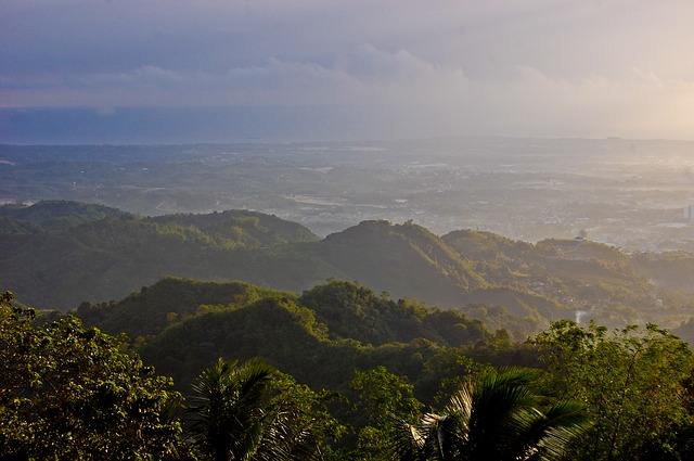 Green forested mountains in the Philippines
