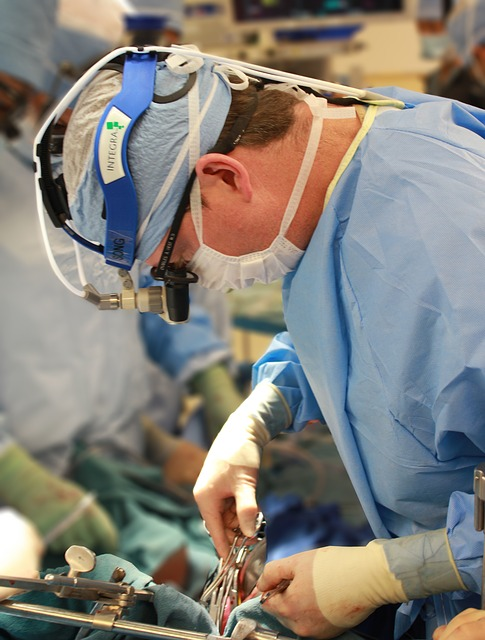 Stuart Campbell operating on the heart for a medical procedure