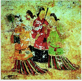 Mural painted in the inner tomb