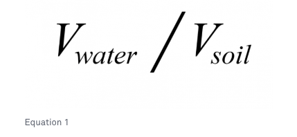Equation to measure volumetric water content