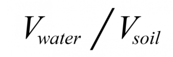 Image of the equation used to calculate the measure of volumetric water content