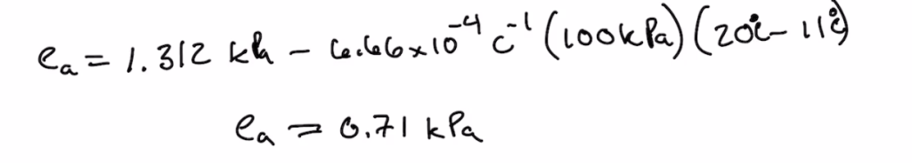 Equation to Find the Vapor Pressure of Air and Gamma