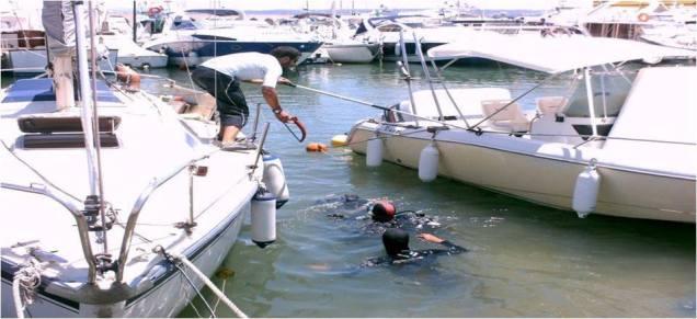 Nettoyage des fonds marins