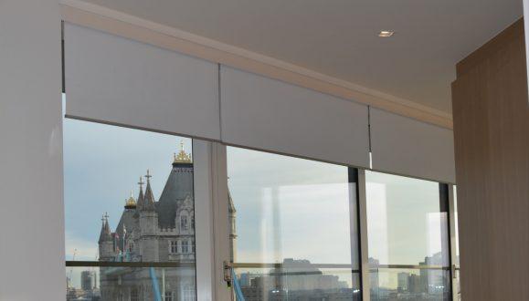 Tower Bridge Blinds Lowered