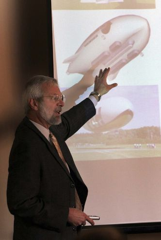 U of M's Barry Prentice has been promoting airships for 15 years. KEN GIGLIOTTI / WINNIPEG FREE PRESS