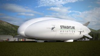 A Straightline Aviation hybrid aircraft is shown in a handout photo. Lockheed Martin has an agreement to sell 12 Hybrid Airships to a U.K. company is expected to transport good around the world including the oil sands and Canada's north.THE CANADIAN PRESS