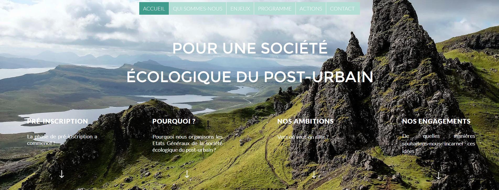 Société écologique post-urbaine: États généraux dans le Limousin du 1er au 3 octobre