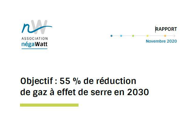 Pour l'association Négawatt, la France peut réduire ses d'émissions de GES de 55 % d'ici 2030