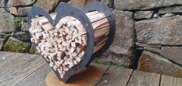 Holzlager Herz S