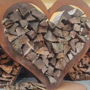 Holzlager Herz L
