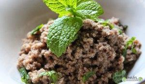 Boeuf- mint-garlic broth vegetables semolina