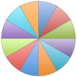Pâte feuilletée divisée en 12 partes