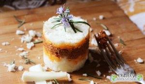 牛肉とトマトソースのキャッサバパルマンティエ