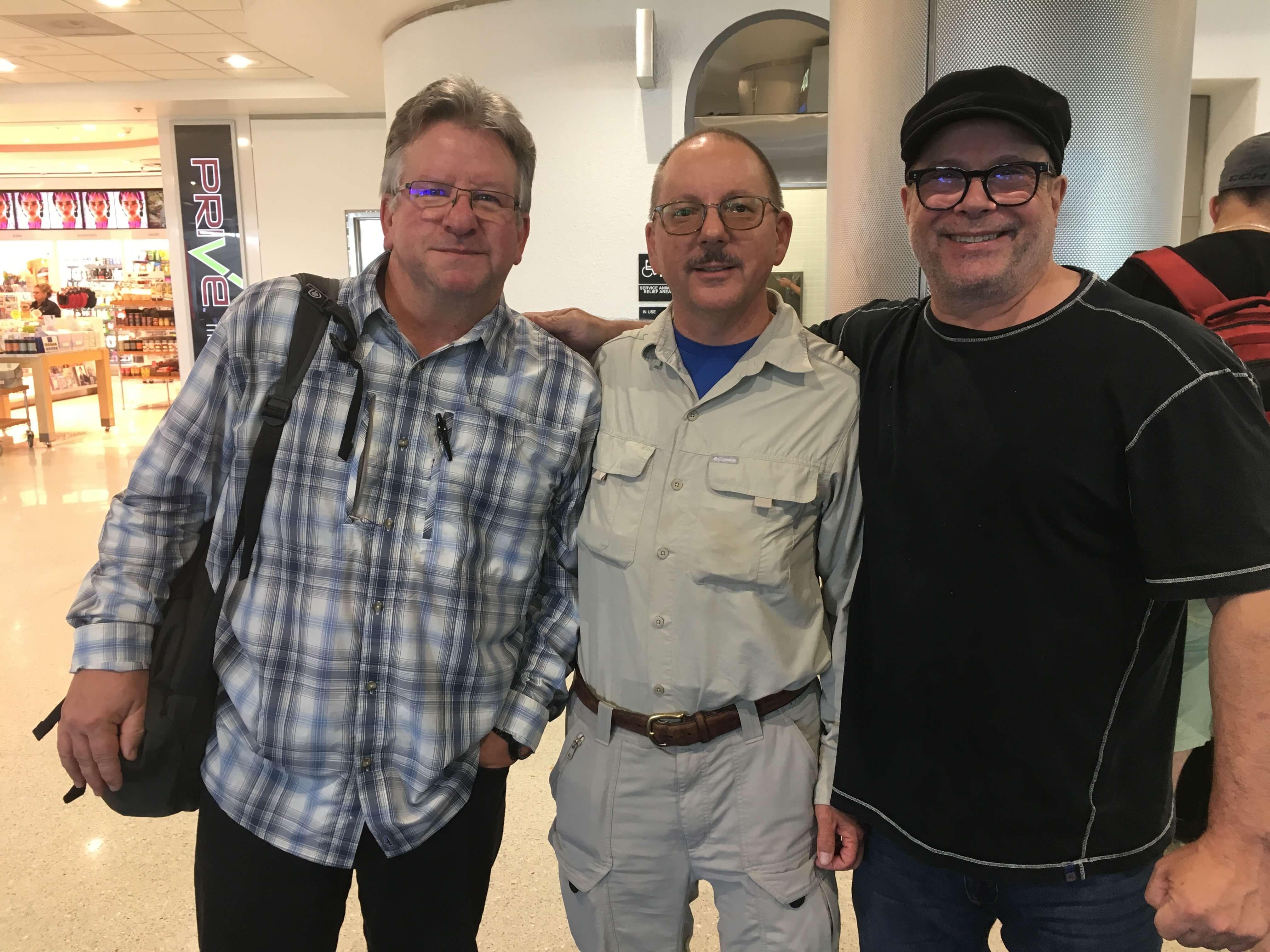Gerry Kirkpatrick, David Gratson, and Rock Vitale at Amazon Fishing Trip