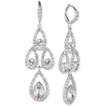 Givenchy Crystal Pear Chandelier Earrings