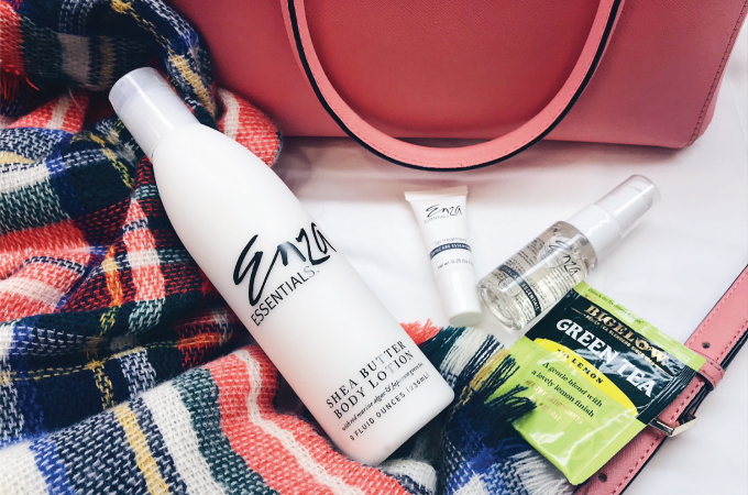 what's in my bag, winter, winter 2018, new year, skin, skincare, beauty, beauty routine, skincare regimen, skin win, skin solution, makeup, winter skin, protection, spf, lipsense, enza, enza essentials, beauty routine