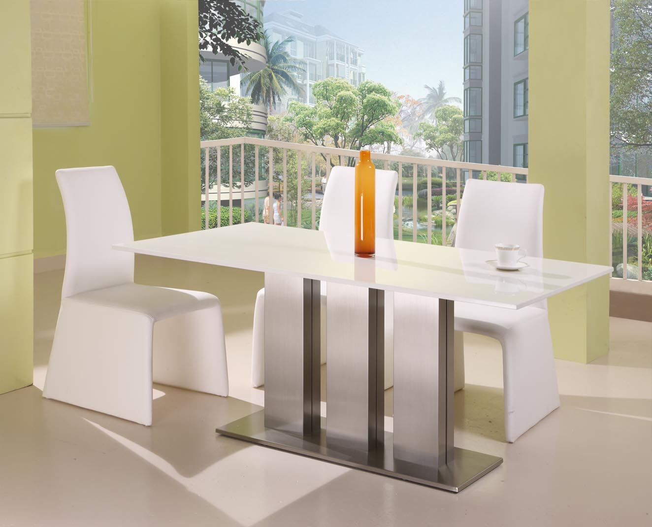 Marble Dining Room Sets Seattle Ultra Modern Ice White Marble Dining Table Dining Chair