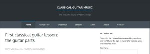 classical guitar music blog