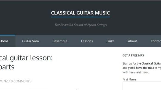 New classical guitar blog online
