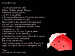 poesia sulla coccinella