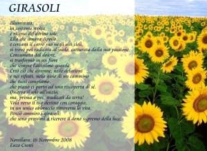 poesia sui girasoli