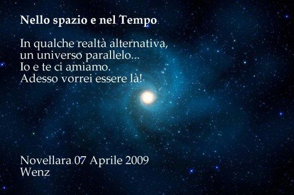 poesia Nello Spazio e nel Tempo, poesia di Enzo Crotti