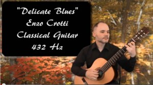classical guitar 432 hz delicate blues