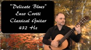 classical guitar 432 hz delicate blues