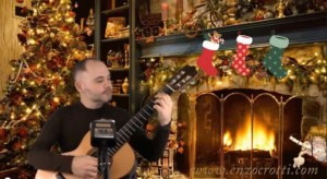 jingle bells classical guitar and voice