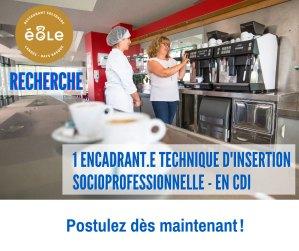 Offre d'emploi : Encadrant.e technique d'insertion socioprofessionnelle