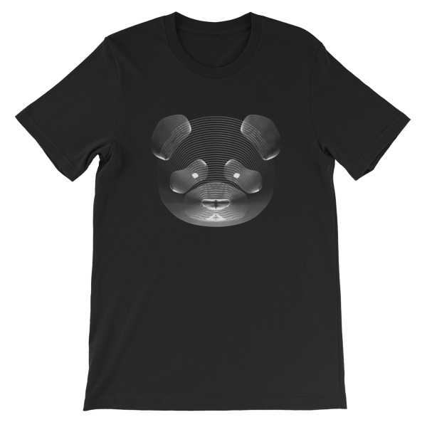 Tshirt noir panda resonance - EOLE PARIS
