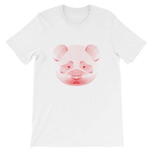 Tshirt blanc panda rouge resonance - EOLE PARIS