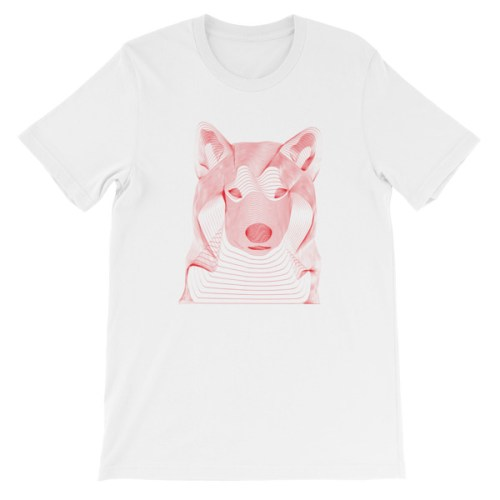 Tshirt rouge chien resonance - EOLE PARIS