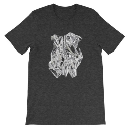 T-shirt | Métal Froissé Argent |Foil