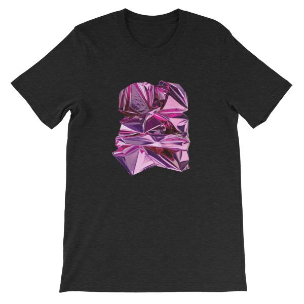 T-shirt | Métal Froissé Violet |Foil