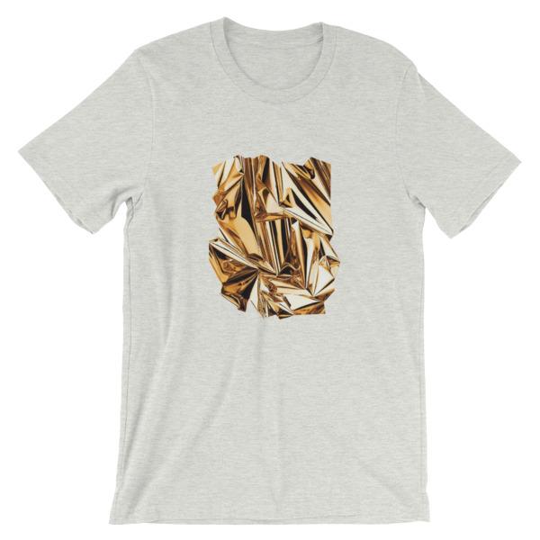 T-shirt   Métal Froissé Or  Foil