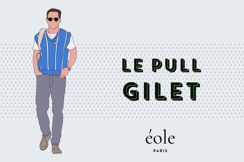 Le pull gilet - EOLE PARIS