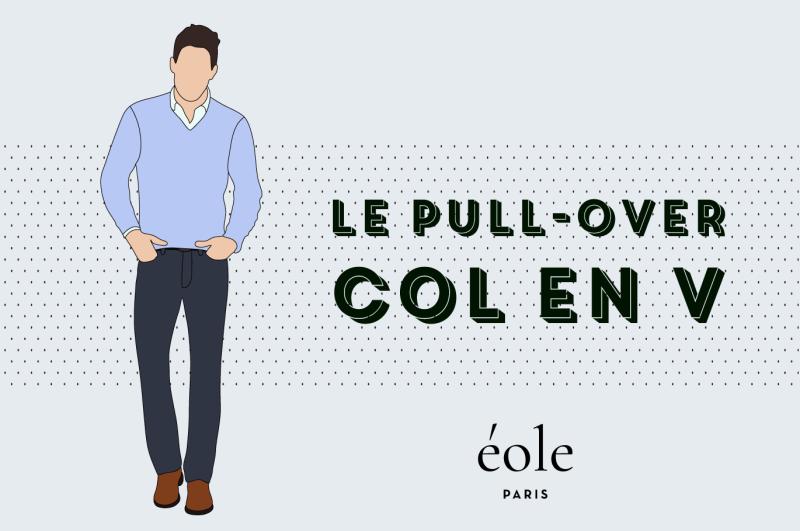 Le pull-over col en V - EOLE PARIS