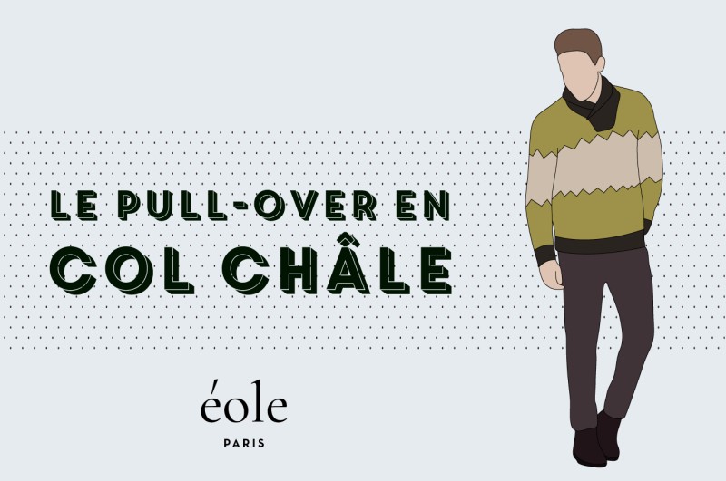 Le pull over col chale - EOLE PARIS