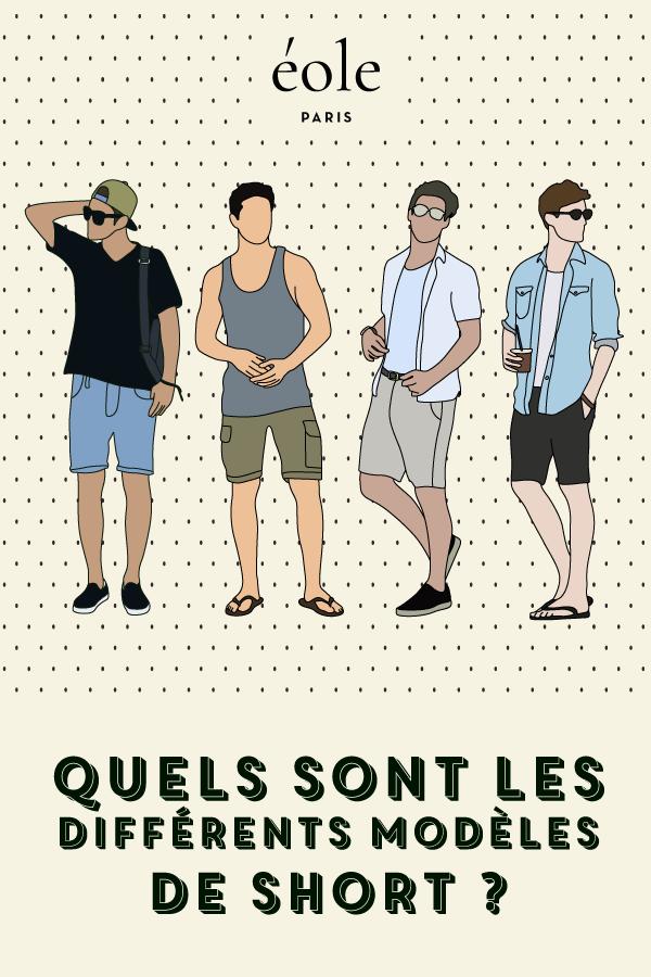Quels sont les différents modèles de short ? EOLE PARIS