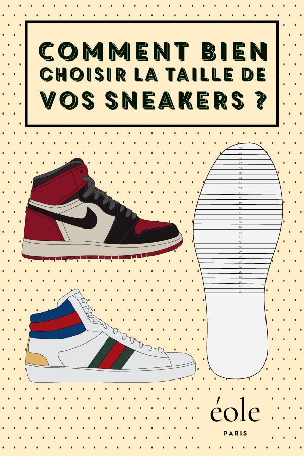 Comment bien choisir la taille de vos sneakers ? EOLE PARIS P