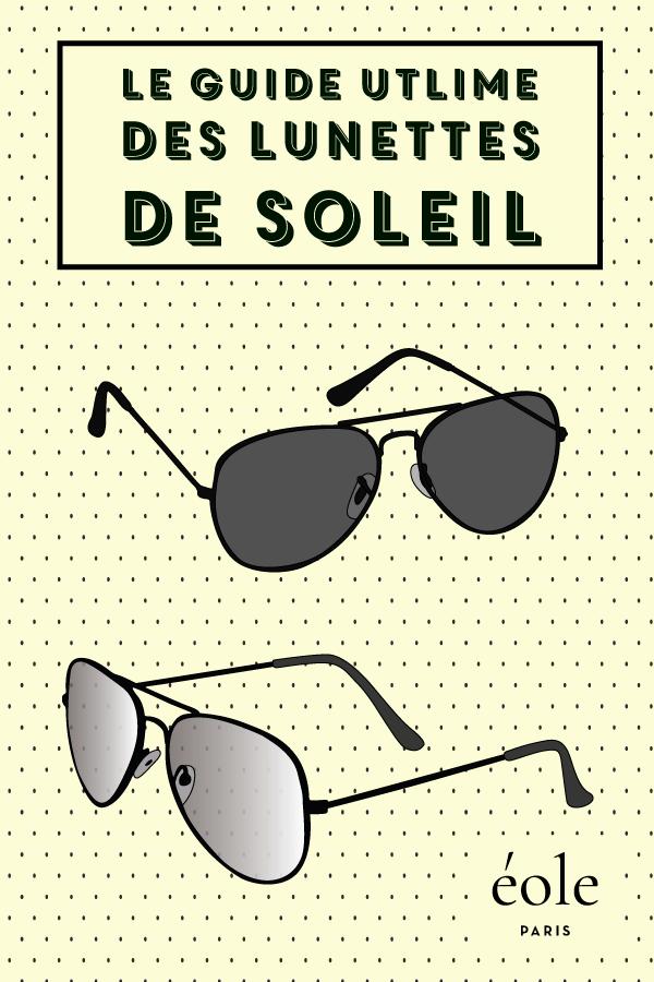Lunettes De Soleil   Le Guide Complet   - ÉOLE PARIS b54f9fb102b5