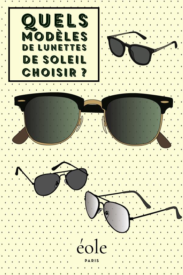 Quels modèles de lunettes de soleil choisir   EOLE PARIS 427bc3ffce8b