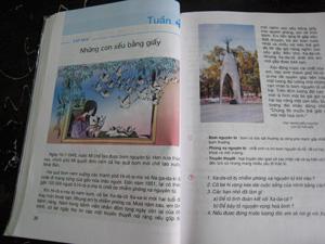 5年生の国語の教科書の中の禎子さんの話 題を直訳すると「紙のたくさんの鶴」