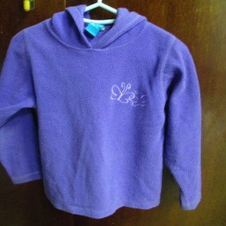 girls purple fleece hoodie size 6