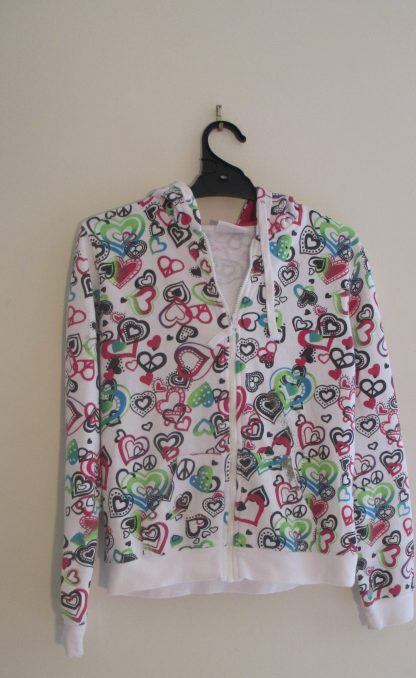 Second-hand girls expression hoodie size 14 in very good condition with two pockets at the front