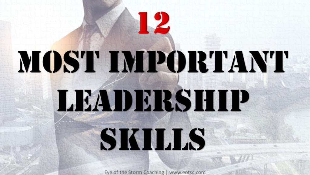 12 most important leadership skills