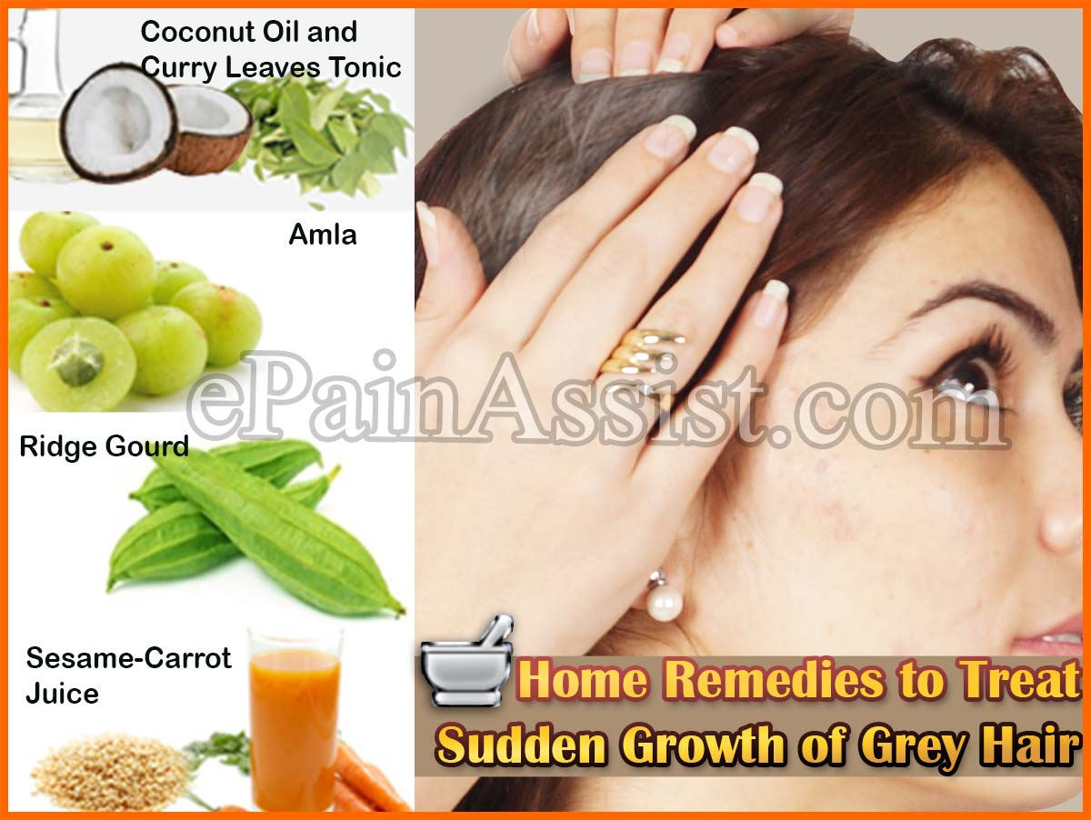 Causes Amp Home Remedies For Sudden Growth Of Grey Hair Or