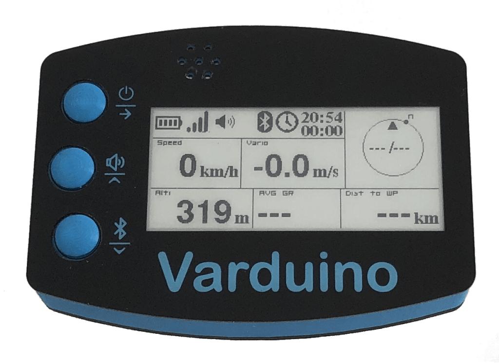 Nouvelle version du Varduino GPS, le variomètre parapente avec écran e-ink